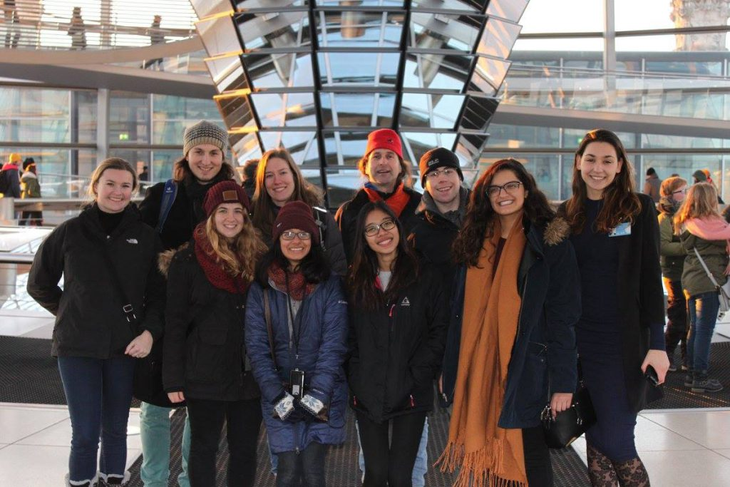 group of students in the Bundestag Berlin
